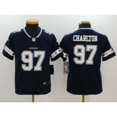 Youth Nike Dallas Cowboys #97 Taco Charlton Navy Vapor Untouchable Player Limited Jersey
