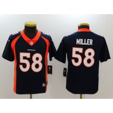 Youth Nike Denver Broncos #58 Von Miller Navy Vapor Untouchable Limited Jersey