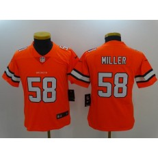 Youth Nike Denver Broncos #58 Von Miller Orange Color Rush Limited Jersey