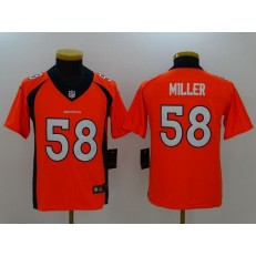 Youth Nike Denver Broncos #58 Von Miller Orange Vapor Untouchable Limited NFL Jersey