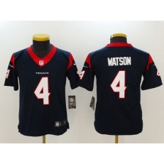 Youth Nike Houston Texans #4 Deshaun Watson Navy Vapor Untouchable Limited NFL Jersey