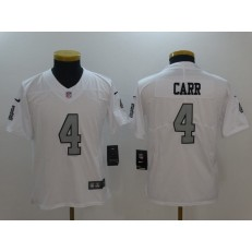 Youth Nike Oakland Raiders #4 Derek Carr White Color Rush Limited NFL Jersey