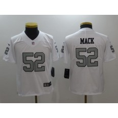 Youth Nike Oakland Raiders #52 Khalil Mack White Color Rush Limited NFL Jersey
