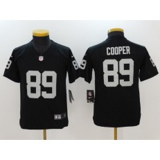 Youth Nike Oakland Raiders #89 Amari Cooper Black Vapor Untouchable Limited NFL Jersey