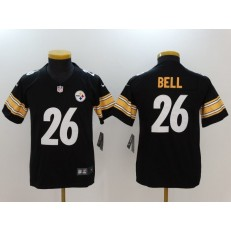 Youth Nike Pittsburgh Steelers #26 Le'Veon Bell Black Vapor Untouchable Limited NFL Jersey