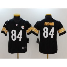 Youth Nike Pittsburgh Steelers #84 Antonio Brown Black Vapor Untouchable Limited NFL Jersey