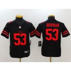 Youth Nike San Francisco 49ers #53 NaVorro Bowman Black Vapor Untouchable Limited NFL Jersey