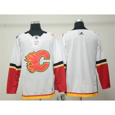 Calgary Flames Blank White Adidas NHL Men Jersey