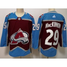 Colorado Avalanche #29 Nathan MacKinnon Burgundy Adidas NHL Men Jersey