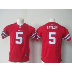 Youth Nike Buffalo Bills #5 Tyrod Taylor Red Limited Jersey