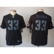 Youth Nike Chicago Bears #33 Charles Tillman Black Impact Limited Jersey