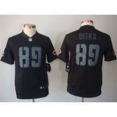 Youth Nike Chicago Bears #89 Mike Ditka Black Impact Limited Jersey