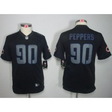 Youth Nike Chicago Bears #90 Julius Peppers Black Impact Limited Jersey