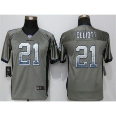 Youth Nike Dallas Cowboys #21 Ezekiel Elliott Grey Drift Fashion Jersey