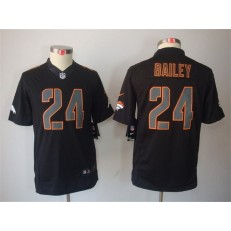 Youth Nike Denver Broncos #24 Champ Bailey Black Impact Limited Jersey