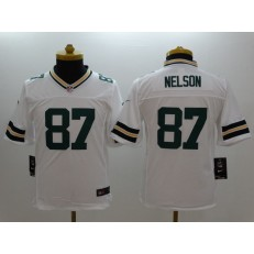 Youth Nike Green Bay Packers #87 Nelson White Limited Jersey