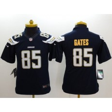 Youth Nike Los Angeles Chargers #85 Gate Dark Blue Limited Jerseys