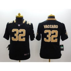 Youth Nike New Orleans Saints #32 Vaccaro Black Limited Jersey
