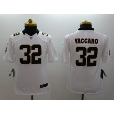 Youth Nike New Orleans Saints #32 Vaccaro White Limited Jersey