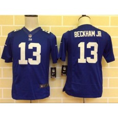 Youth Nike New York Giants #13 Beckham Jr Blue Limited Jersey