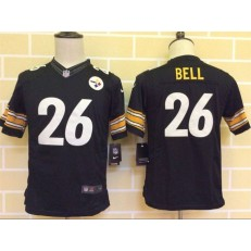 Youth Nike Pittsburgh Steelers #26 Bell Black Limited Jersey