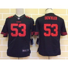 Youth Nike San Francisco 49ers #53 Bowman Black Limited Jersey