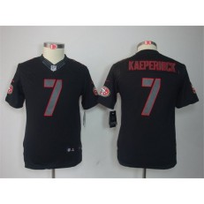 Youth Nike San Francisco 49ers #7 Colin Kaepernick Black Impact Limited Jersey