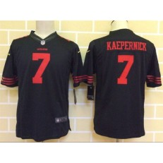 Youth Nike San Francisco 49ers #7 Kaepernick Black Limited Jersey