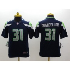 Youth Nike Seattle Seahawks #31 Chancellor Blue Limited Jersey