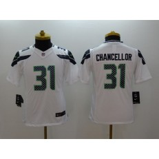 Youth Nike Seattle Seahawks #31 Chancellor White Limited Jersey