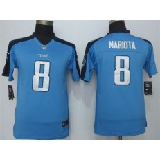 Youth Nike Tennessee Titans #8 Mariota Sky Blue Limited Jersey