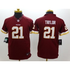 Youth Nike Washington Redskins #21 Taylor Red Limited Jersey