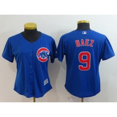 MLB Chicago Cubs 9 Javier Baez Royal Women Cool Base Jersey