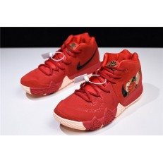 NIKE KYRIE 4 CNY UNIVERSITY RED BLACK TEAM RED 943807-600