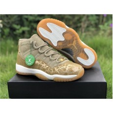 AIR JORDAN 11 GS NEUTRAL OLIVE AR0715-200
