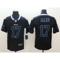 Nike Buffalo Bills #17 Josh Allen Black Shadow Legend Limited Jersey