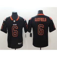 Nike Cleveland Browns #6 Baker Mayfield Black Shadow Legend Limited Jersey