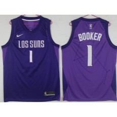 Phoenix Suns #1 Devin Booker Purple City Edition Nike Swingman Jersey