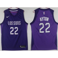 Phoenix Suns #22 Deandre Ayton Purple City Edition Nike Swingman Jersey
