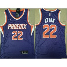 Phoenix Suns #22 Deandre Ayton Purple Nike Swingman Jersey(Without The Sponsor Logo)