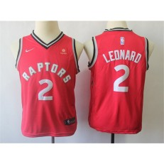 Toronto Raptors #2 Kawhi Leonard Red Youth Nike Swingman Jersey