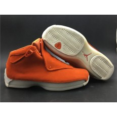 AIR JORDAN 18 RETRO ORANGE SUEDE AA2494-801