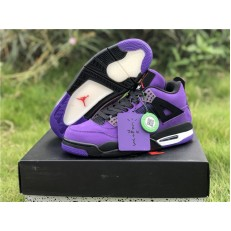 TRAVIS SCOTT x AIR JORDAN 4 PURPLE 308497-510