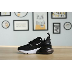 KID'S NIKE AIR MAX 270 BLACK WHITE ORANGE