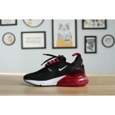 KID'S NIKE AIR MAX 270 BLACK WHITE RED