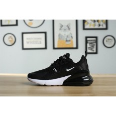 KID'S NIKE AIR MAX 270 BLACK WHITE
