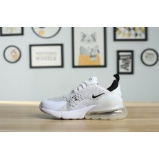 KID'S NIKE AIR MAX 270 WHITE BLACK