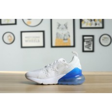 KID'S NIKE AIR MAX 270 WHITE BLUE