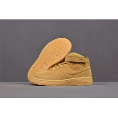 KID'S NIKE AIR FORCE 1 MID WHEAT 859338-200