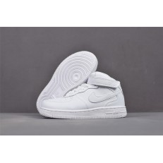KID'S NIKE AIR FORCE 1 MID WHITE 314197-113